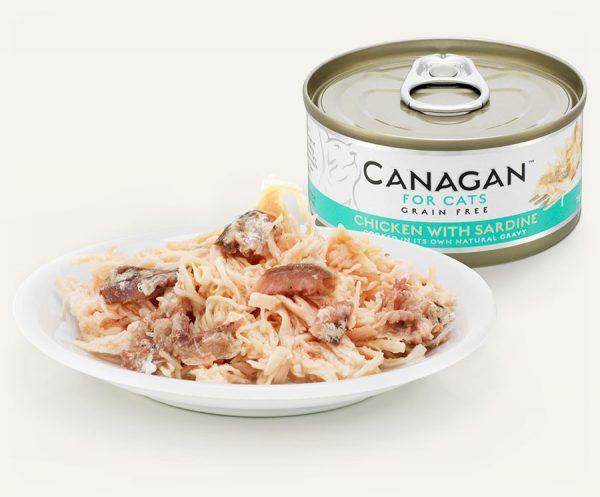 konzerva pre mačky kura sardinky