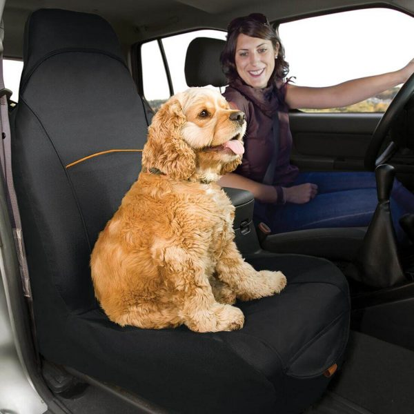 Bucket Seat Cover Dogs Black 62256.1518635338