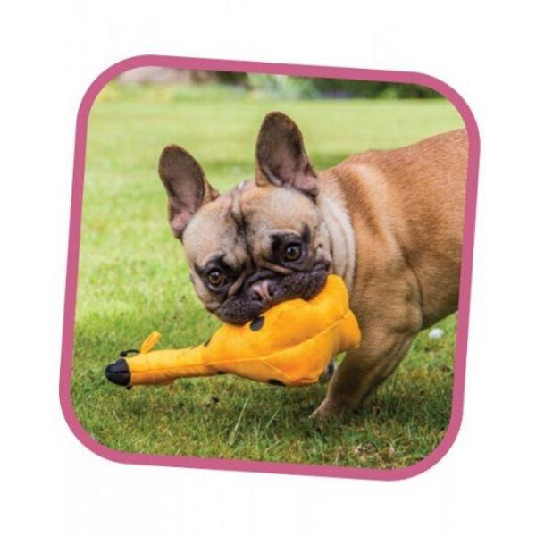 Ekologická pískacia hračka pre psa Beco Family - George žirafa