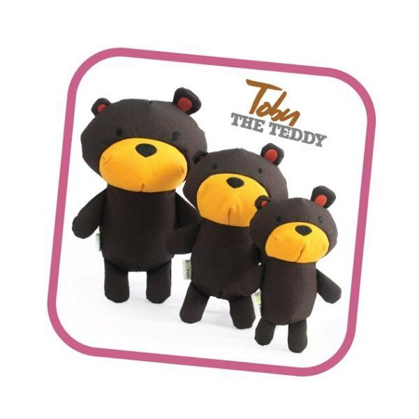 Ekologická pískacia hračka pre psa Beco Family - Toby Teddy