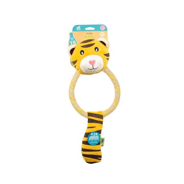 Pískacia ekologická hračka Beco Dual Material - tigrica Tilly