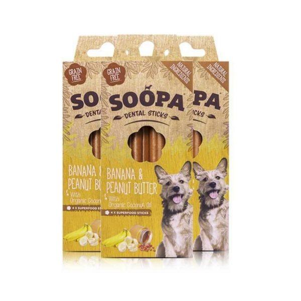 Dentálne pamlsky pre psov Banán a arašidové maslo 3pack