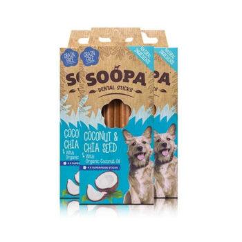 Dentálne pamlsky pre psov Kokos a Chia Semienka 3pack