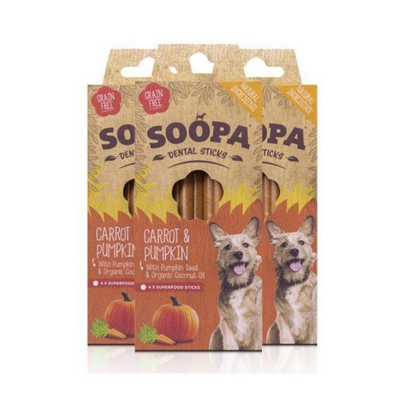 Dentálne pamlsky pre psov Mrkva a tekvicové semienka 3pack