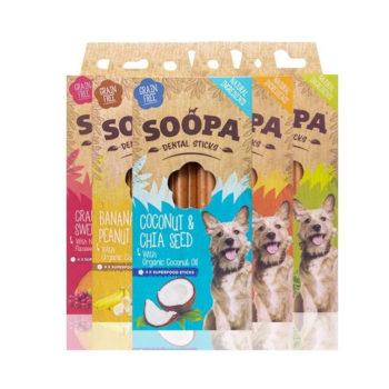 Dentálne pamlsky pre psov Soopa - Všetkých 5 príchutí