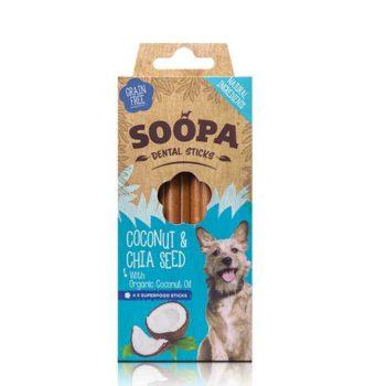 Dentálne maškrta pre psa soopa kokos a chia semienka