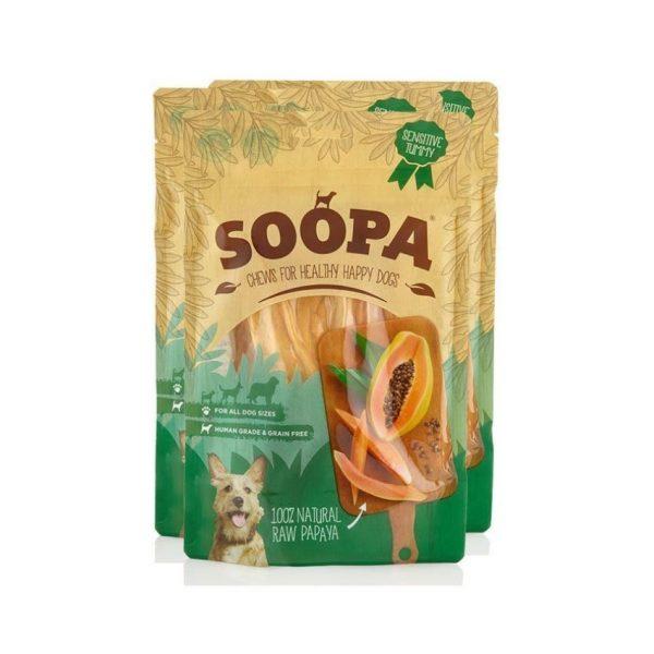 Rastlinné pamlsky Raw Papaya Chews 3pack