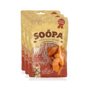 Rastlinné pamlsky Raw Sweet Potato Chews 3pack