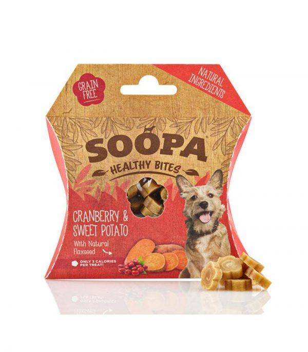 soopa zdrave pamlsky pre psa na trening brusnice a sladke zemiaky