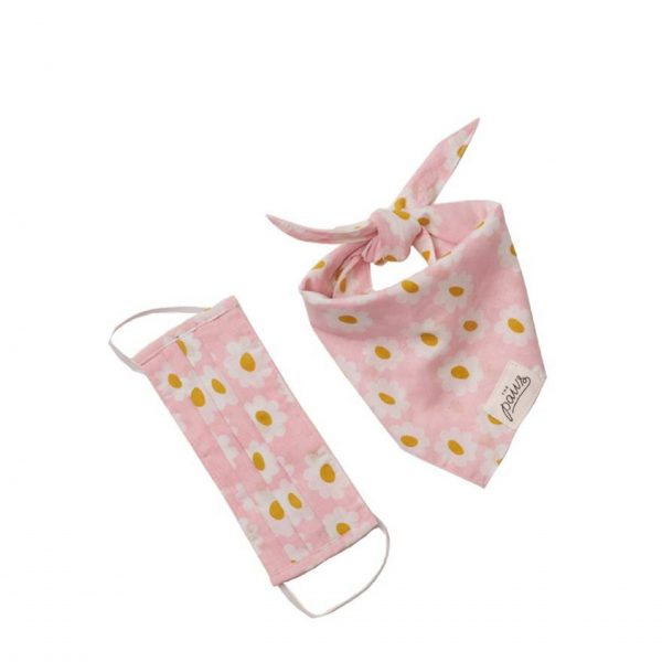 Face Cover Bandana Pink Daisy Chains scaled