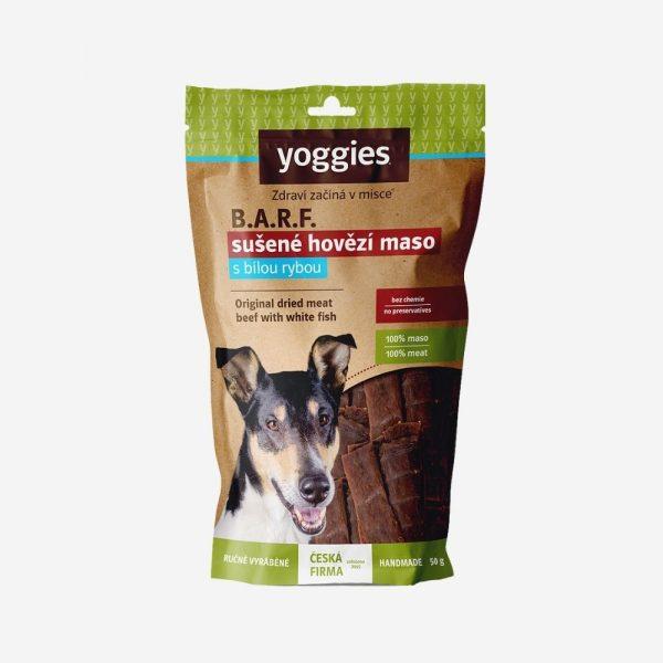 yoggies barf pamlsky pre psa hovadzie ryba