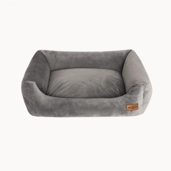 pelech pre psa velvet sofa sivy
