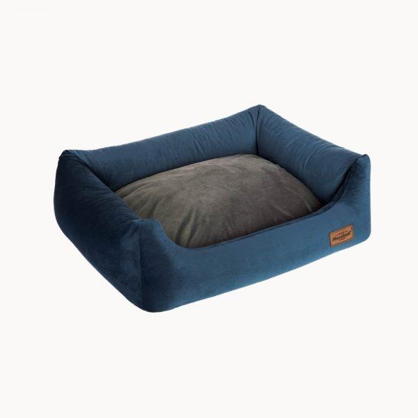 velvet sofa pelech s vankusom