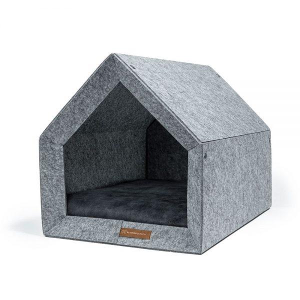 pethome LG domcek pre psa antracitovy