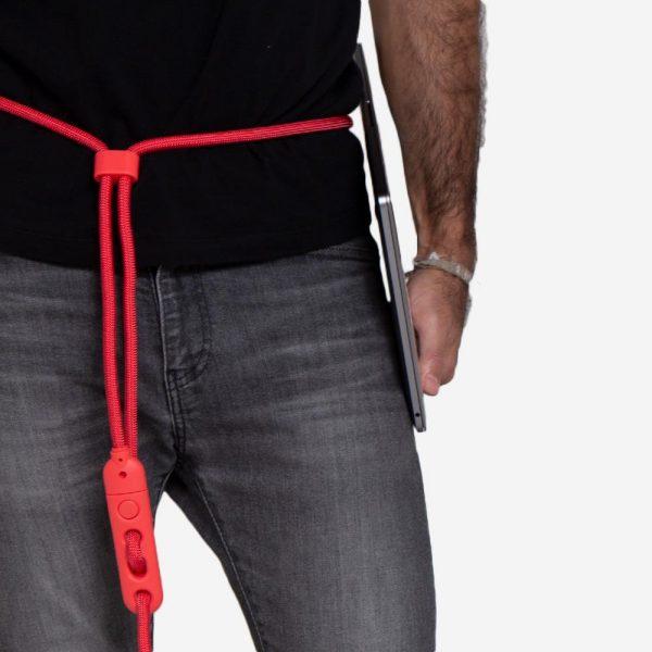 zeedog dog leashes hands free leash neon coral main 3 ce3ebdcd 9c27 43ba a393