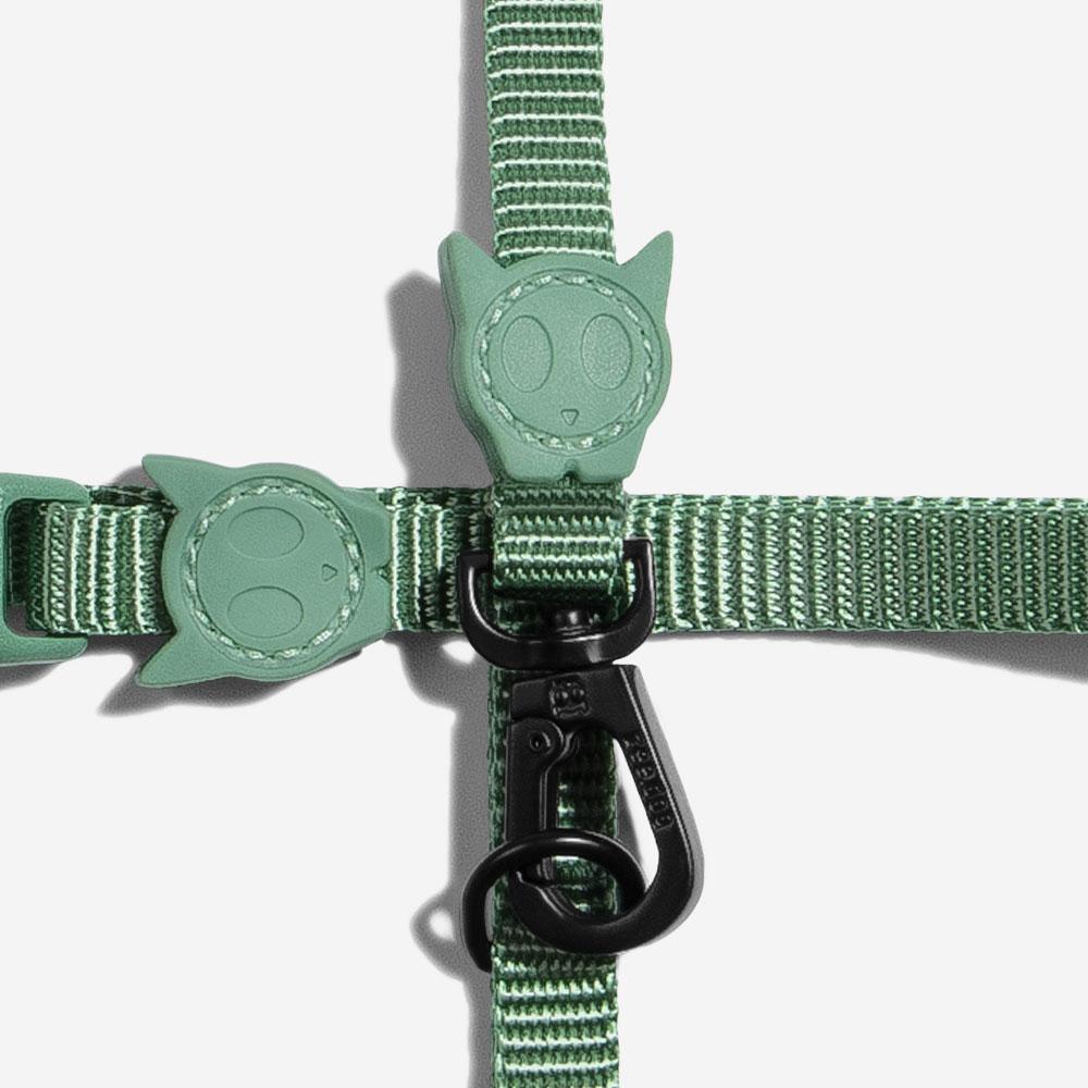 zeedog cat harness army green main